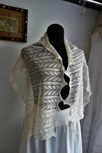 手編みクンストレースショール sold out! - スペイン・バルセロナ・アンティーク gyu's shop