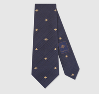 【GUCCI】Bee check pattern silk cotton tie - てっち衣装部ログ