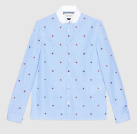 【GUCCI】Bee fil coupé Cambridge shirt - てっち衣装部ログ