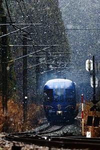 雪は降ったが - 今日も丹後鉄道