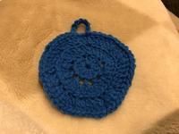 アクリル毛糸で食器用タワシを編む。 - 良いことみ~っけた♪
