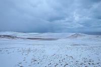 雪の鳥取砂丘 - アオイソラ
