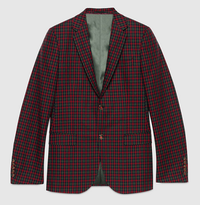【GUCCI】Monaco check wool cashmere jacket - てっち衣装部ログ