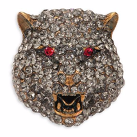 【GUCCI】Feline Crystal Brooch - てっち衣装部ログ