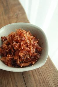 生姜の蜂蜜漬けからの佃煮   (料理・お弁当部門) - はぐくむキッチン