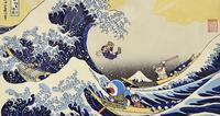 久々浮世絵 22 - 風に吹かれてすっ飛んで ノノ(ノ`Д´)ノ ネタ帳