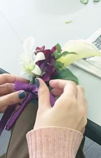 ブートニア作製 - acorns flower days