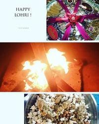 北インドの冬至:ローリー祭(自由部門) - Blue Lotus