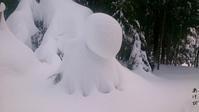 庄内の雪晴れ間 - あけびのあ