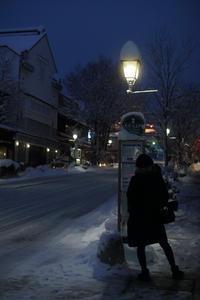 善光寺雪化粧・雪の門 - よく晴れた雨の日に。