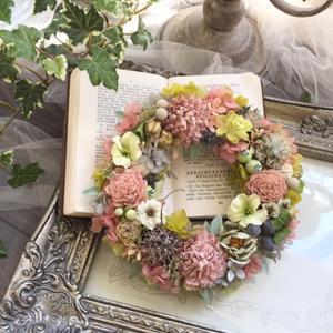 春色リースと雪の駅伝 - *kiko's  diary* 京都でプリザやリースなどの花雑貨とお庭のお店[Breath Garden]をしています!