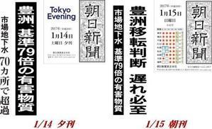 """豊洲・ベンゼン・79倍~""""独り歩きする""""伝え方~17/01/16 - 岩佐徹のOFF-MIKE"""