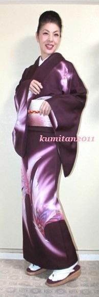 今日の着物コーディネート♪(2017.1.15)~鳳凰訪問着&袋帯編~《ファッション・ビューティ部門》 - 着物、ときどきチロ美&チャ美。。。リサイクル着物ハタノシイナ♪