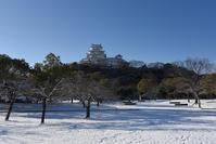 雪の姫路城 - とりあえず撮ってみました