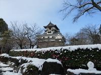 雪の犬山城散歩 - 月が昇れば
