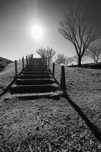 空へ続く階段 - minamiazabu de 散歩 with FUJIFILM