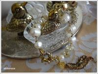 バロック真珠とシリトンのブレスレット - akisarara