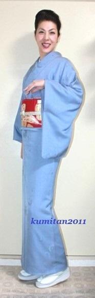 今日の着物コーディネート♪(2017.1.17)~色無地&アンティーク帯編~《ファッション・ビューティ部門》 - 着物、ときどきチロ美&チャ美。。。リサイクル着物ハタノシイナ♪