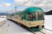 雪は朝に撮るもの - 今日も丹後鉄道