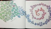Thank you!! 彩色例の投稿 『ねむれる森』by 増村さん - オトナのぬりえ『ひみつの花園』オフィシャル・ブログ
