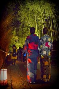 着物美人と竹林と - 片眼を閉じて見る世界には・・・。