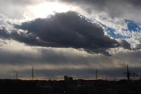 寒い日の雲。 - 明暮日の茶ばしら