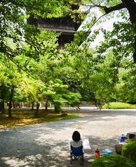 今年も東寺でお絵かき - しずくの空