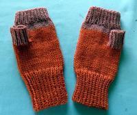 ☆ パソコン用手袋 - ひまわり編み物