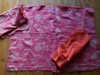 紅花で襟なしのジャケットに・・・刺子は2巾目に - 藍ちくちく日記