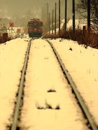 雪道 - 今日も丹後鉄道