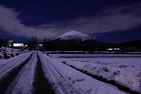 29年1月の富士(22)夜の田園の富士(写真部門) - 富士への散歩道 ~撮影記~