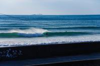 冬の海景色g - 雲空海