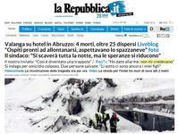 地震・雪崩アブルッツォ州ホテル現在死者4名行方不明者25名以上、イタリア中部地震 - ペルージャ イタリア語・日本語教師 なおこのブログ - Fotoblog da Perugia