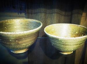 飴釉デザート鉢と焼き締め丼碗(小) - のぼり窯窯元の日々