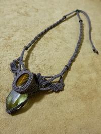【マクラメ&ヘンプ】#102 シトリン×タイガーアイのネックレス - Shop Gramali Rabiya   (SGR)
