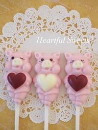 ハートいっぱい ぶたさんチョコ。・* - Heartful Sweets