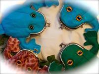 カエルのがま口フェルト製 追加 - 布と木と革FHMO-DESIGNS(えふえっちえむおーでざいんず)Favorite Hand Made Original Designs