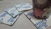 白くまプリント&リバティのコースター - AssortClothのハンドメイドダイアリー