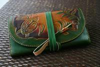 10年もののお財布 - wakaba leather works