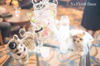 白いスタンドに 白とピンクのウェルカムフラワー - Ys Floral Deco Blog