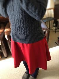 初心者さん対象 東京洋裁教室   赤いスカート - 東京洋裁教室 「  Sewing  Theray  」初心者*マタニティさんの手作り教室