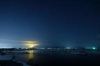 夜の福島潟 - デジタルで見ていた風景