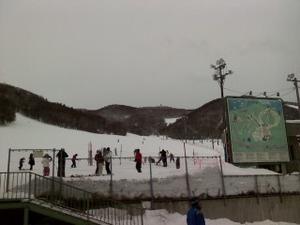 藻岩山で初スキー -