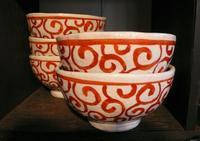大石順一さんの赤絵碗が届きました。 - 陶千房ノート