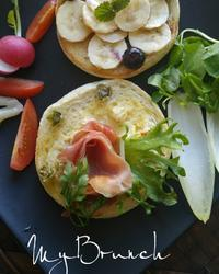 ブランチにイングリッシュマフィン - 料理研究家ブログ行長万里  日本全国 美味しい話