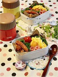バターロールサンド弁当とミニチョコパン♪ - ☆Happy time☆