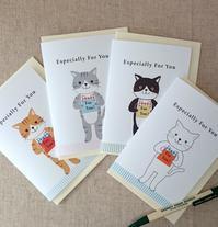 ネコのメッセージカード - mon livre diary