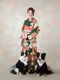 Kimono & Dogs     着物とワンs - ひとひとうさぎねこねこわんわん