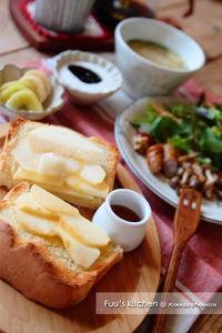パン&お味噌汁は定番デス♪ - きまぐれ*風音・・kanon・・