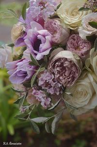 アンティークカラーのブーケマリエ - Rieko Ando  RA fleuriste blog